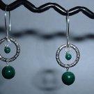 MALACHITE Sterling Silver Earrings 373