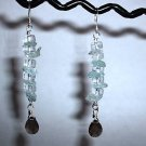 TOPAZ and SMOKY QUARTZ Sterling Silver Earrings 399