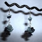 BLUE TOPAZ and IOLITE CLUSTER Sterling Silver Earrings
