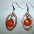 HESSONITE CHALCEDONY ANTIQUE COPPER Earrings 524