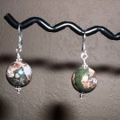 PLUM BLOSSOM STONE  Sterling Silver Earrings 348