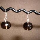 SMOKY QUARTZ FACETED Sterling Silver Earrings 26