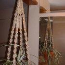 Macrame Plant Hanger PEARL 4 TAN BEADS