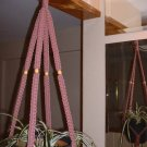 Macrame Plant Hanger TEABERRY 4 TAN BEADS