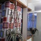 Macrame Plant Hanger SAND 4 WALNUT BEADS