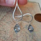SMOOTH TEARDROP and  MYSTIC QUARTZ SILVER Earrings
