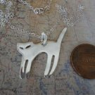 CAT Silhouette Necklace Sterling Silver