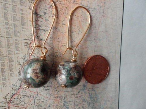 PLUM BLOSSOM STONE GOLD Earrings 18