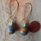 TURQUOISE AND MULTI COLOR STONE GOLD Earrings 17