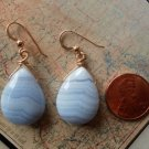 BLUE LACE AGATE 14K GOLD FILLED Earrings 12