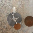 FLYING BIRD NECKLACE Necklace  Silver