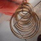 HOOPS Multi-rings GOLD Earrings RIPPLE RINGS