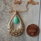 CHRYSOPRASE GOLD TEAR DROP NECKLACE Gold 558
