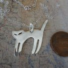 CAT Silhouette Necklace Silver