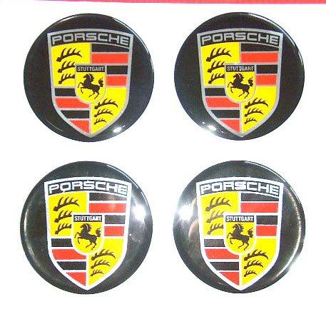 Porsche 6 4 Cm New Resin Sticker Decals Center Wheel
