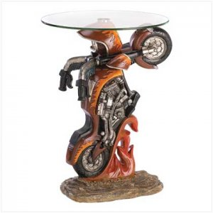 Motorcycle accent table 39588
