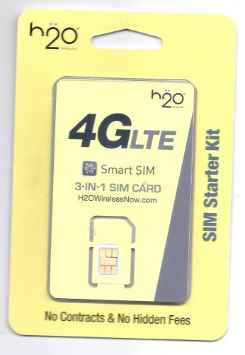 H20 Wireless 3 in 1 prepaid gsm sim card