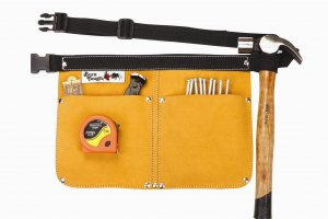 Heavy Duty Leather Traditional Nail & Tool Pouch Bag
