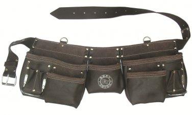 11 Pocket Oil Tanned Leather Tool Bag Belt / Tool Rig Apron