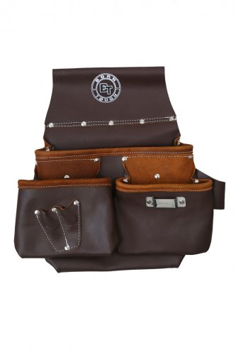 Newly Designed Multi Pocket Oil Tanned Leather Nail & Tool Pouch Bag