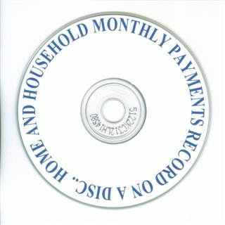 Home & Household Monthly Payment Records on a Disc.