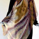 Earth Tones Shawl - SPECIAL ORDERS  ONLY- Hand Painted Silk Chiffon, JOSSIANI