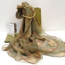 Earth Tones Scarf, Pure Silk Chiffon, MADE TO ORDER ONLY  by  JOSSIANI