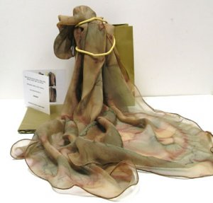 Earth Tones Scarf, Pure Silk Chiffon, Made to Order only.