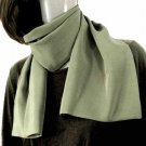 LIGHT OLIVE GREEN Crepe de Chine Neck Scarf, Men or Women