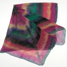 Hand Painted  Silk Wrap,  Chiffon Shawl Large Scarf, Multicolor, JOSSIANI
