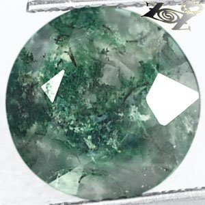 3.02 Ct.Natural Round 10 mm. Green Dendritic inside Crystal white Moss Agate Gem
