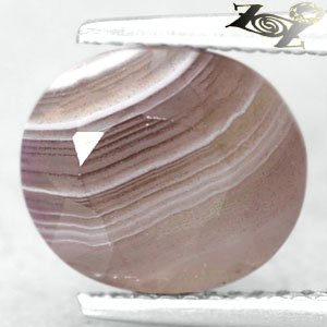 3.27 CT.Natural Oval 9*10 mm. Banded Red Brown Gray Clear Africa Zebra Sardonyx