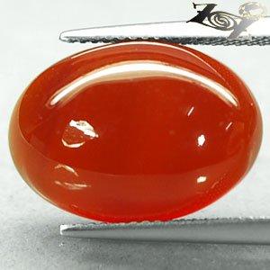 11.54 CT.Natural Oval 13*18 mm. Banded Sunset Red Orange Africa Sardonyx Gems