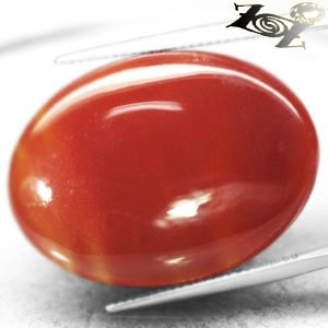 30.26 CT.VVS 1 Natural Oval Cabochon 21*30 mm Intense Sunset Red Africa Sardonyx