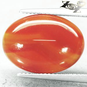 8.63 CT.VVS 1 Natural Oval 13*18 mm Intense Sunset Orange Crystal Yellow Sardonyx