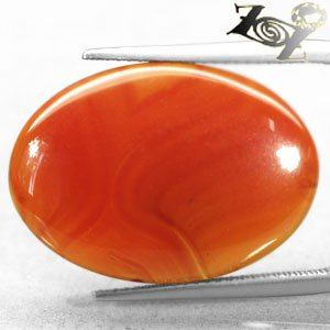 13.17 CT.Natural Oval 18*25 mm. Banded Sunset Red Orange Africa Sardonyx Carnelian