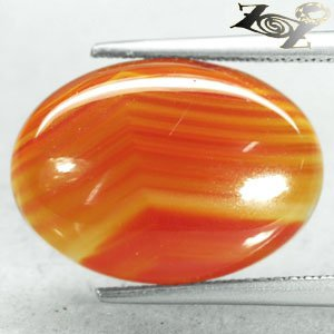 8.4 CT.Natural Oval 13*18 mm. Banded Red Orange Clear Africa Sardonyx Carnelian