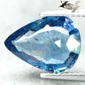 4 CT.Unheated Untreated Natural Pear 10*13 mm. Purpleish Blue Tanga Sapphire Gem