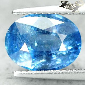 4.61 CT.Unheated Untreated Firely Natural Oval 8*10 mm. Tanga Mine Blue Sapphire