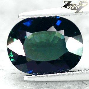 5.36 CT.VVS 1 Unheated Natural Oval 9*12 mm. Intense Greenish Blue Sapphire Gems