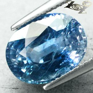 6.73 CT.Firely Unheated Natural Oval 9*12 mm. Intense Tanga Blue Sapphire ���寶�