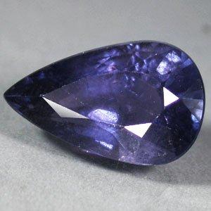 4.78 CT.Not Enhanced Unheated Natural Pear 8*13 mm. Tanga Vivid Blue Sapphire