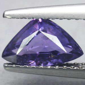 Not Enhanced Untreated Natural Trillion 5.5*9 mm Vivid Purple Sapphire 1.21 CT.