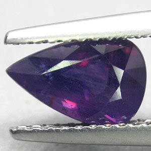 Untreated Natural Pear 5.5*8.5 mm. Intense Purple Violet Tanga Sapphire 1.35 CT.