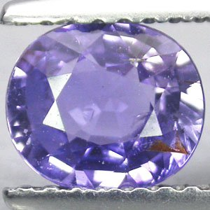 Unheated Natural Oval 6*7 mm. Intense Purple Violet Tanga Sapphire 1.1 CT.Gems
