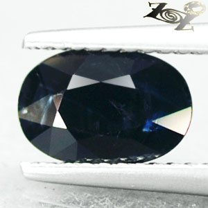 Unheated Not Enhanced Natural Oval 5.5*8.5mm Intense Deep Blue Sapphire 1.66 CT.