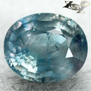 7.16 CT.Unheated Untreated Firely Natural Oval 10 * 12 mm. Green Blue Sapphire