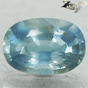 2.94 Ct.Firely Unheated Natural Oval 7*10 mm Silver Blue Tanga Tanzania Sapphire
