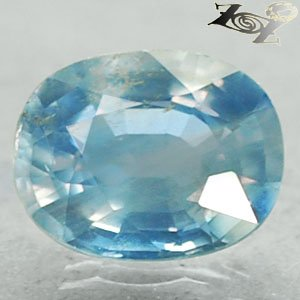 3.04 Ct. Firely Unheated Natural Oval 7*9 mm. Intense Sky Blue Tanga Sapphire Gem