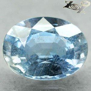 3.28 Ct.Firely Unheated Natural Oval 8*10 mm. Cornflower Blue Sapphire ���寶� Gem